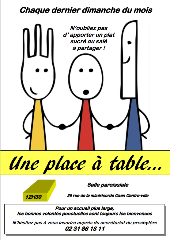 Une place a table 1